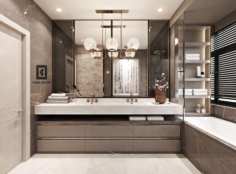 Các kiểu phòng tắm hiện đại